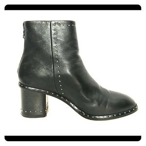 Rag & Bone Willow Black Studded Leather Booties